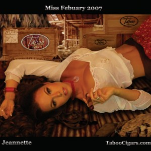Jeanette- Miss February- Taboo Cigars
