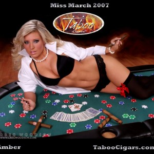 Amber- Miss March- Taboo cigars