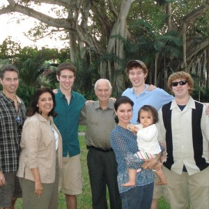 Dad, Aunt Margarita, Sam, Uncle Pepe, Patricia, Myself, Nick